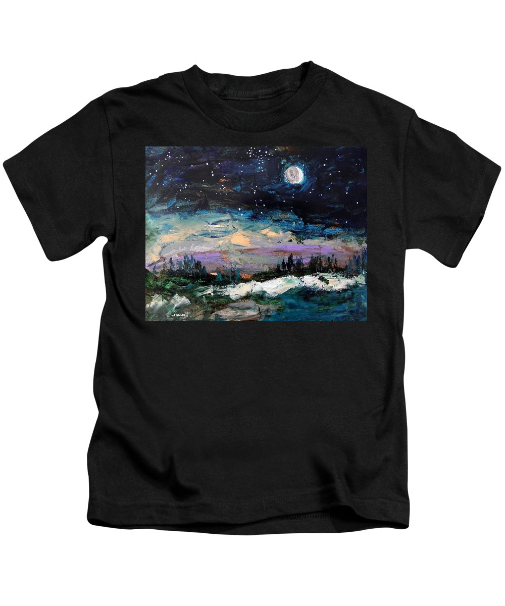 Moon Kids T-Shirt featuring the painting Winter Eclipse by John Williams