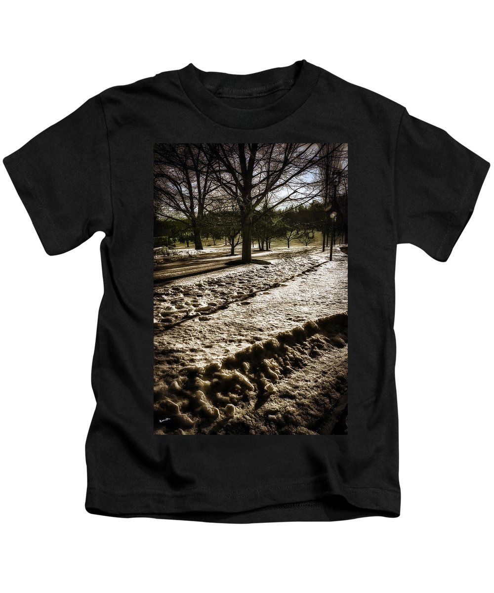 Winter Kids T-Shirt featuring the photograph Winter In The Berkshires by Madeline Ellis