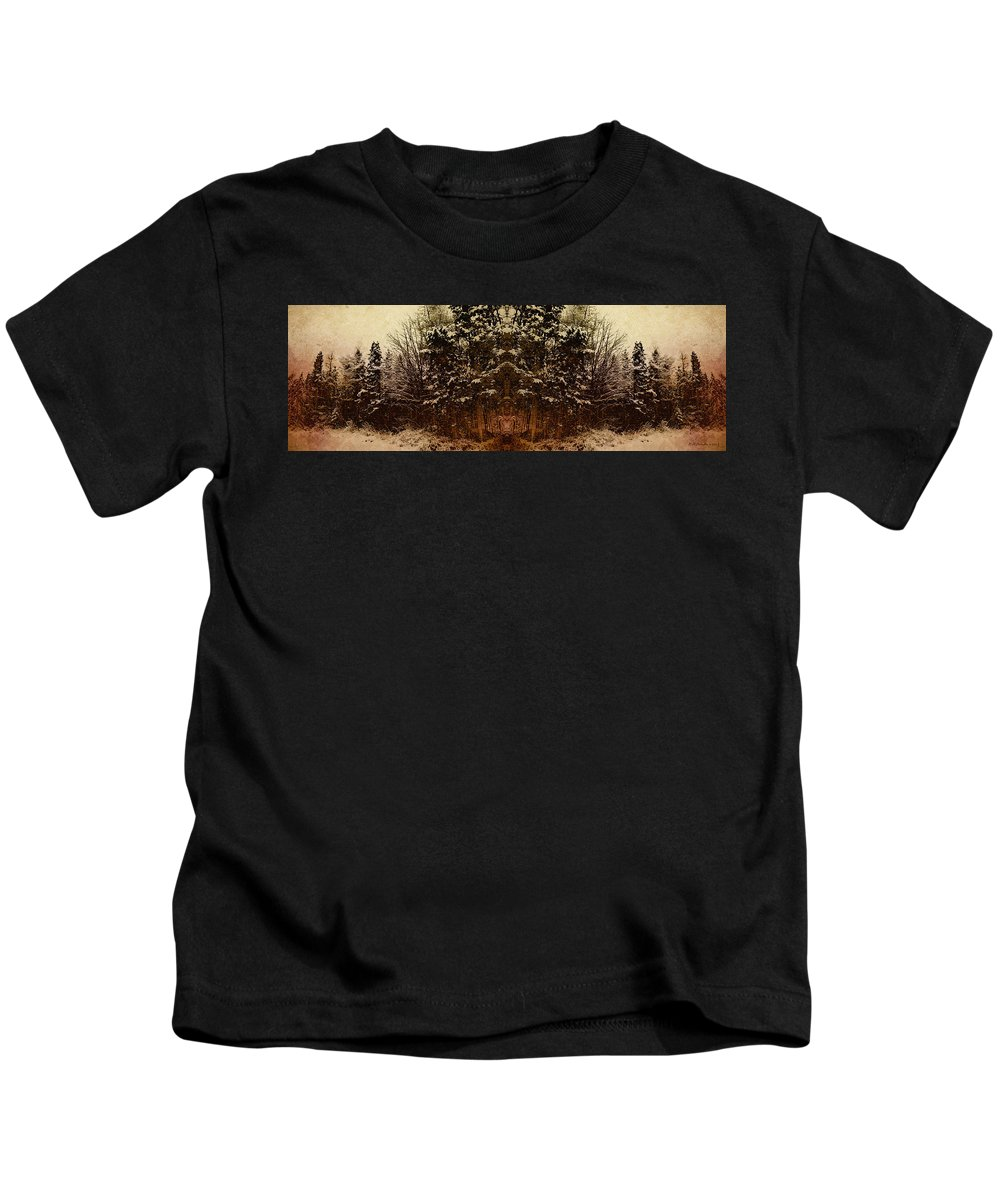 Tree Kids T-Shirt featuring the photograph Winterscape 3 by WB Johnston
