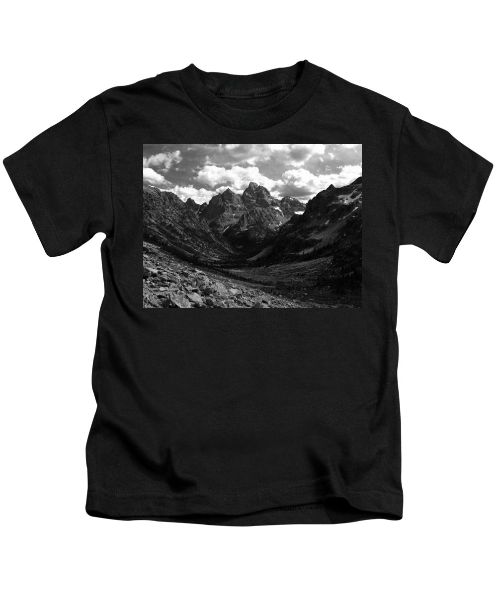 Cascade Canyon Kids T-Shirt featuring the photograph Within The North Fork Of Cascade Canyon by Raymond Salani III