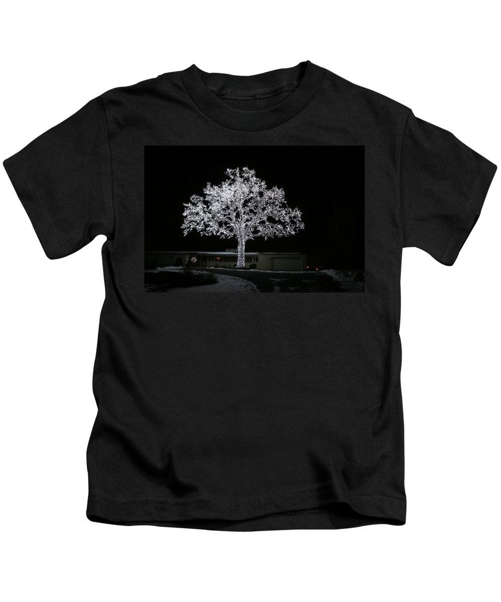 Christmas Lights Kids T-Shirt featuring the photograph Work Of Art by Amanda Stadther