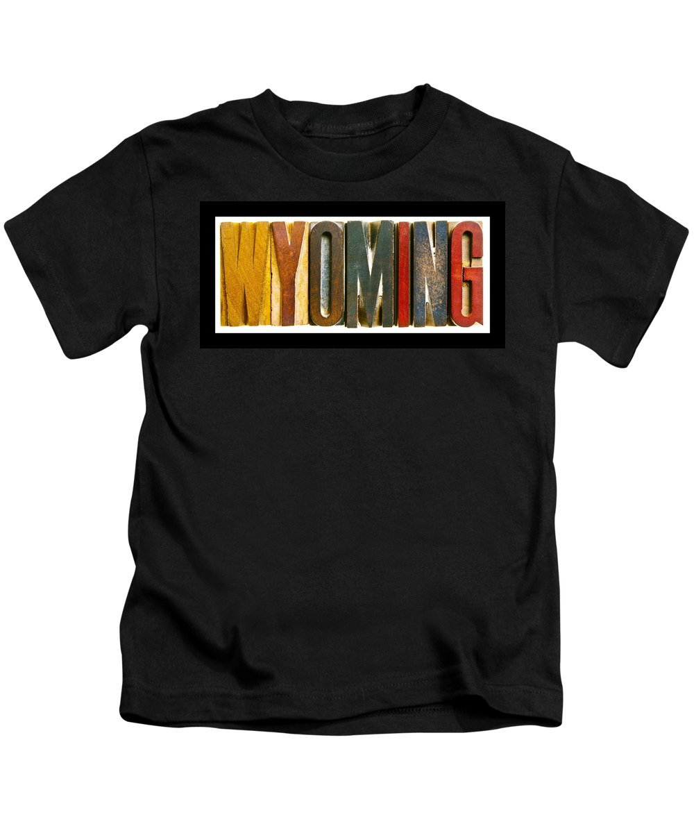 Wyoming Kids T-Shirt featuring the photograph Wyoming by Donald Erickson