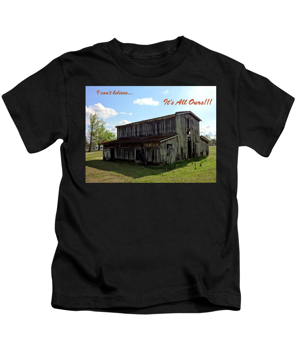 House Kids T-Shirt featuring the photograph Ye Old Homestead by Deborah Crew-Johnson