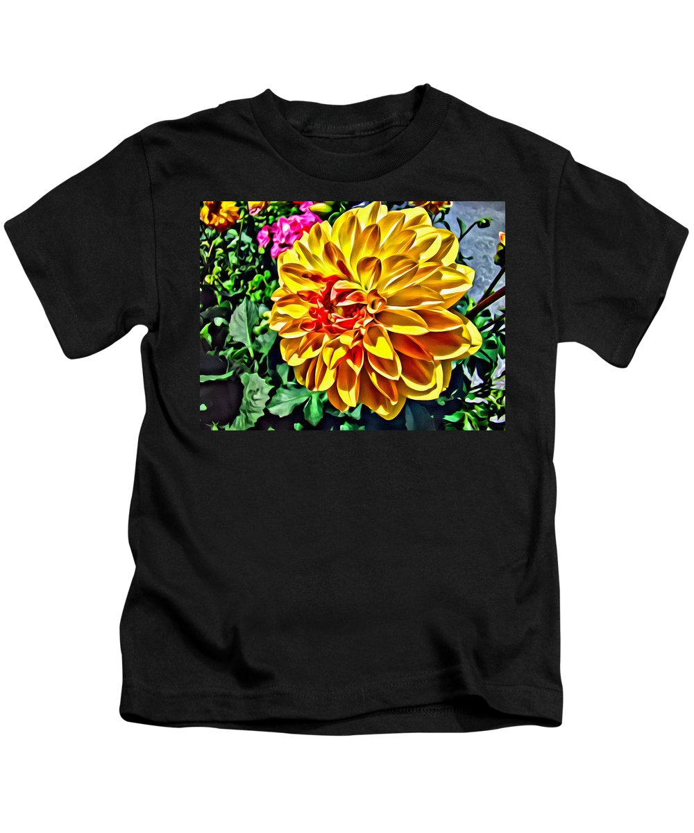 Flower Kids T-Shirt featuring the photograph Yellow Flower by Alice Gipson