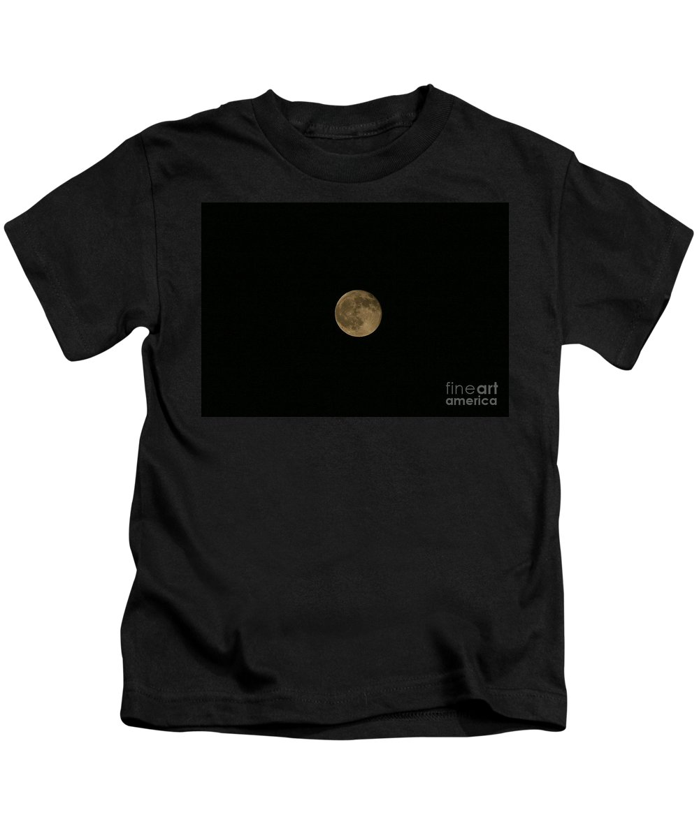 Moon Kids T-Shirt featuring the photograph Yellow Moon by Neal Eslinger