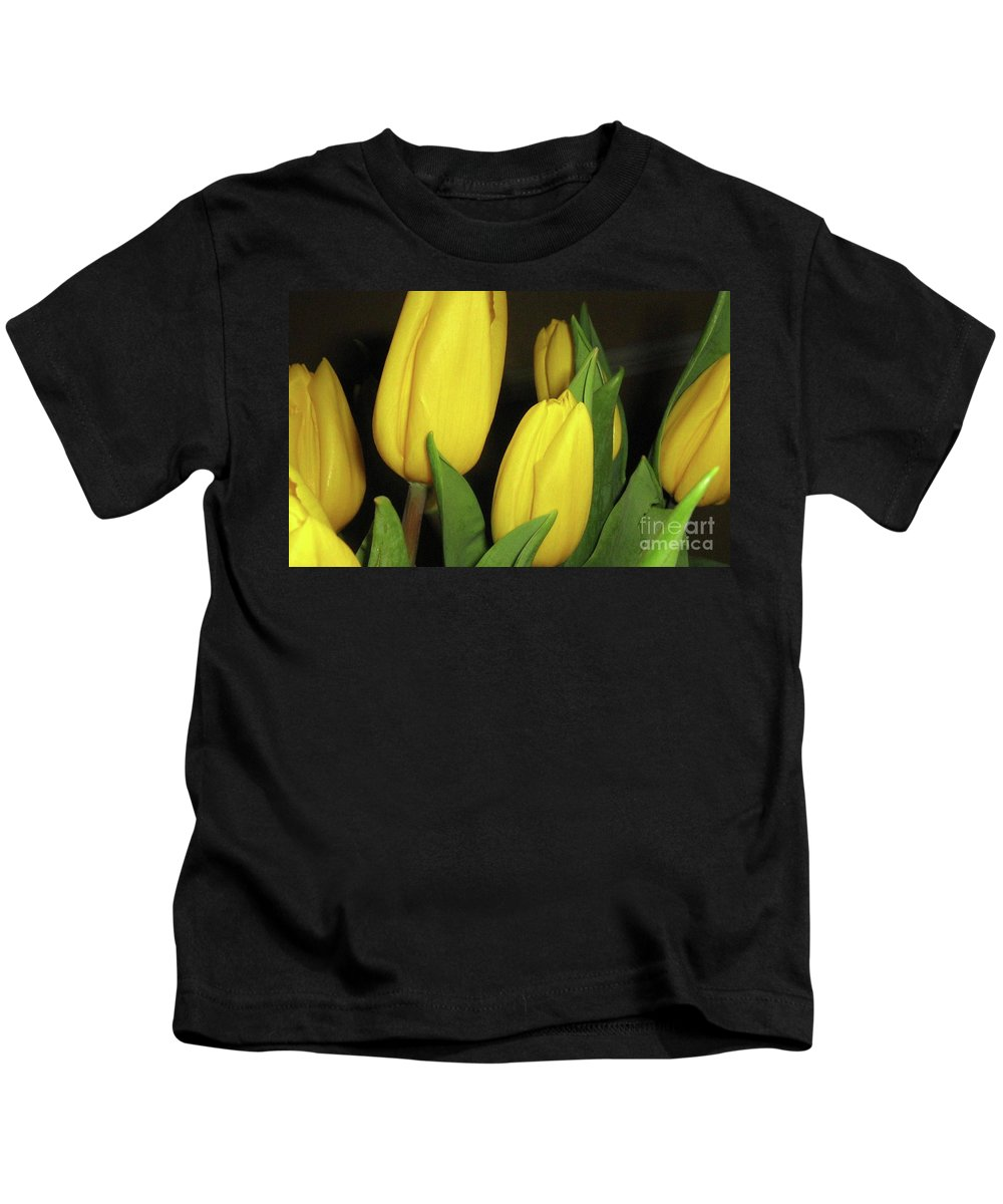 Yellow Tulips Kids T-Shirt featuring the photograph Yellow Tulips by Barbara Griffin