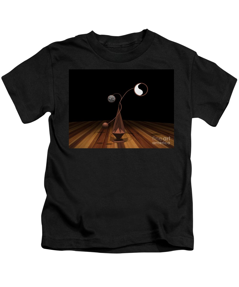 Concept Kids T-Shirt featuring the photograph Ying And Yang by Peter Piatt