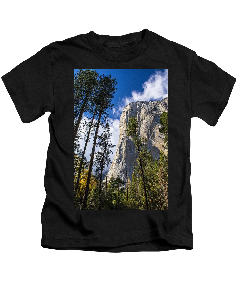 Yosemite Kids T-Shirt featuring the photograph Yosemite In The Fall by Doug Holck