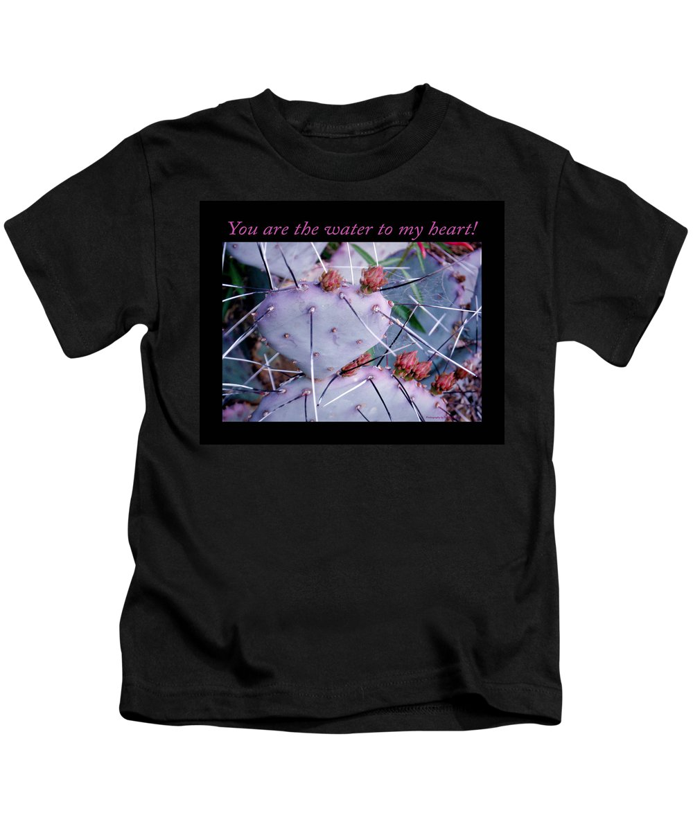 Desert Kids T-Shirt featuring the photograph You Are The Water For My Heart 7 by Tamara Kulish