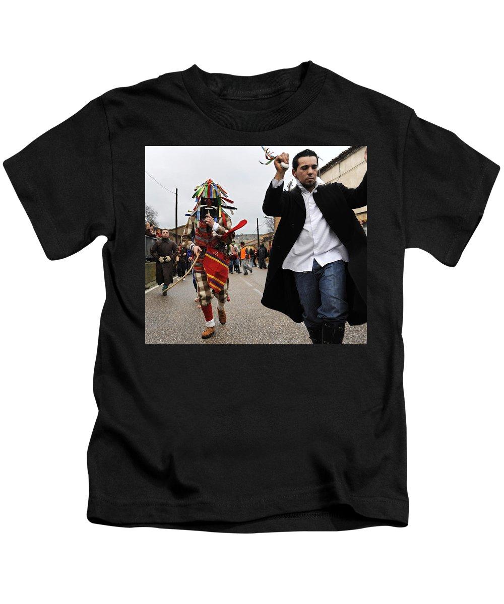 Spain Kids T-Shirt featuring the photograph Zangarron Mascarade 4 by Rafa Rivas
