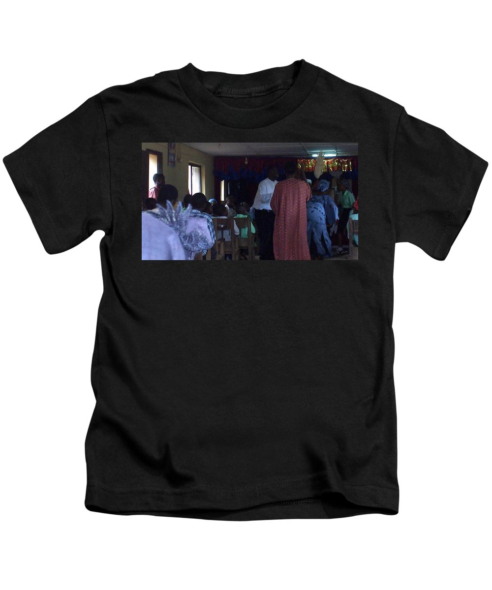 Dance Kids T-Shirt featuring the photograph Nigerian Dancing by Amy Hosp