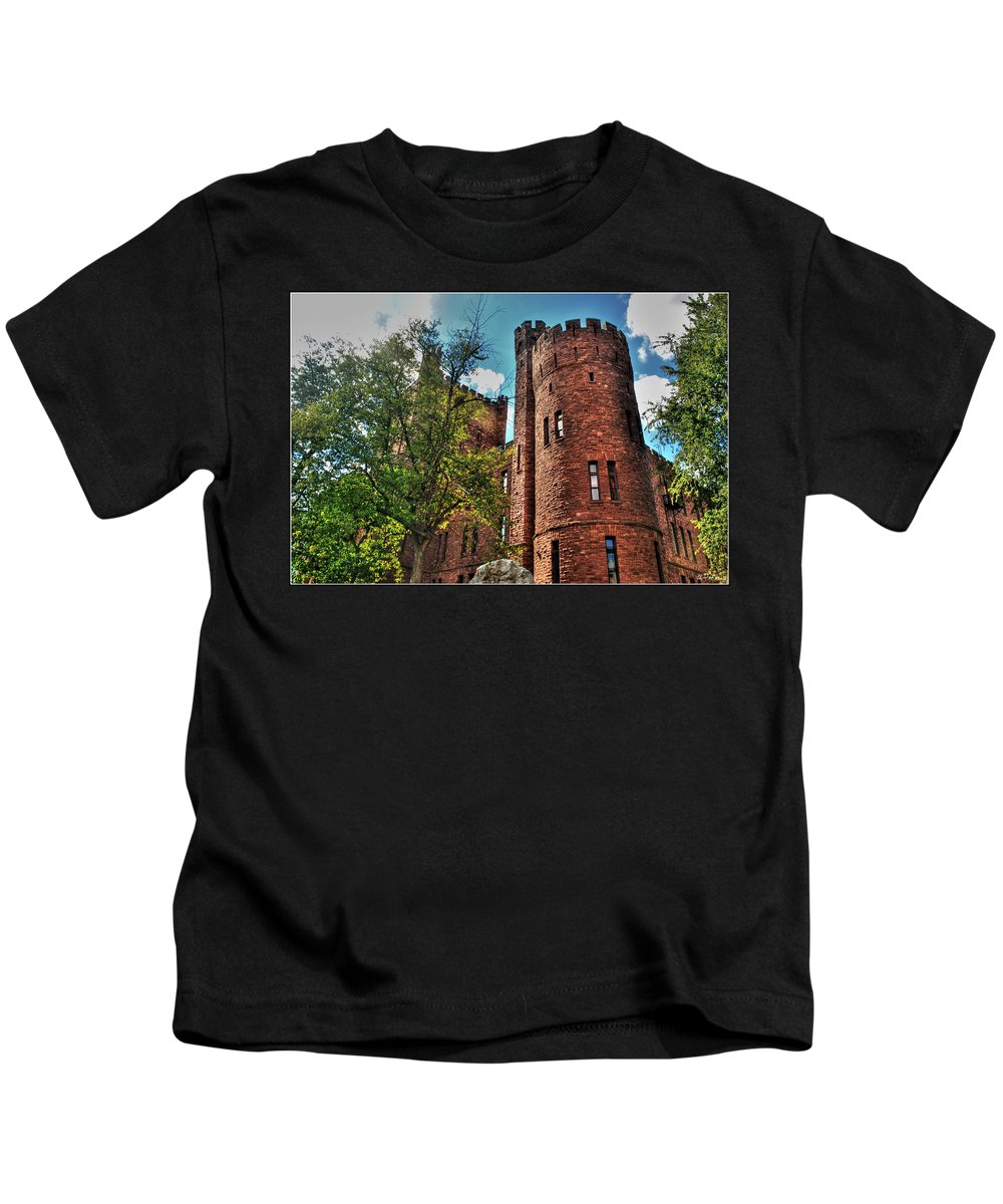 Kids T-Shirt featuring the photograph 005 The 74th Regimental Armory In Buffalo New York by Michael Frank Jr