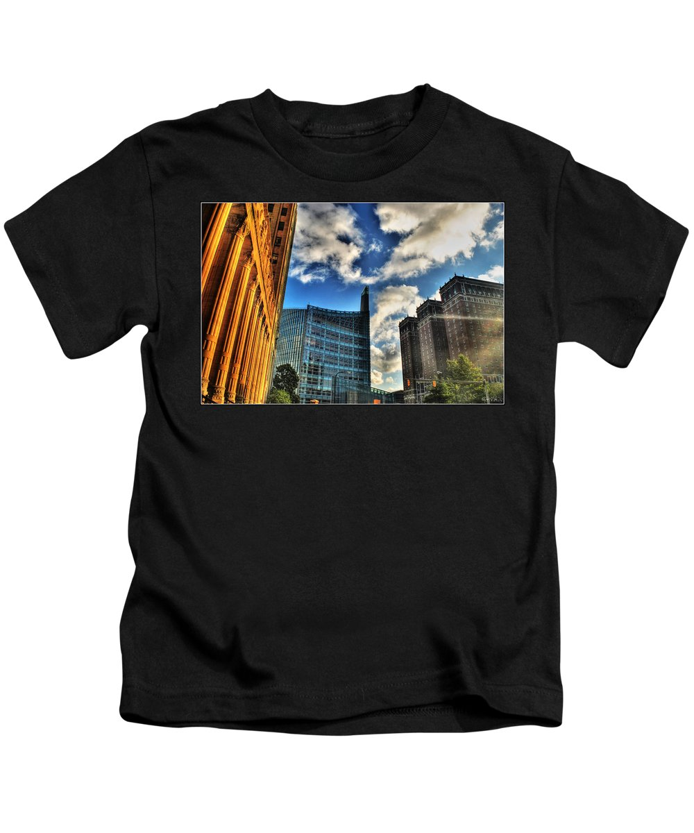 Kids T-Shirt featuring the photograph 005 Wakening Architectural Dynamics by Michael Frank Jr