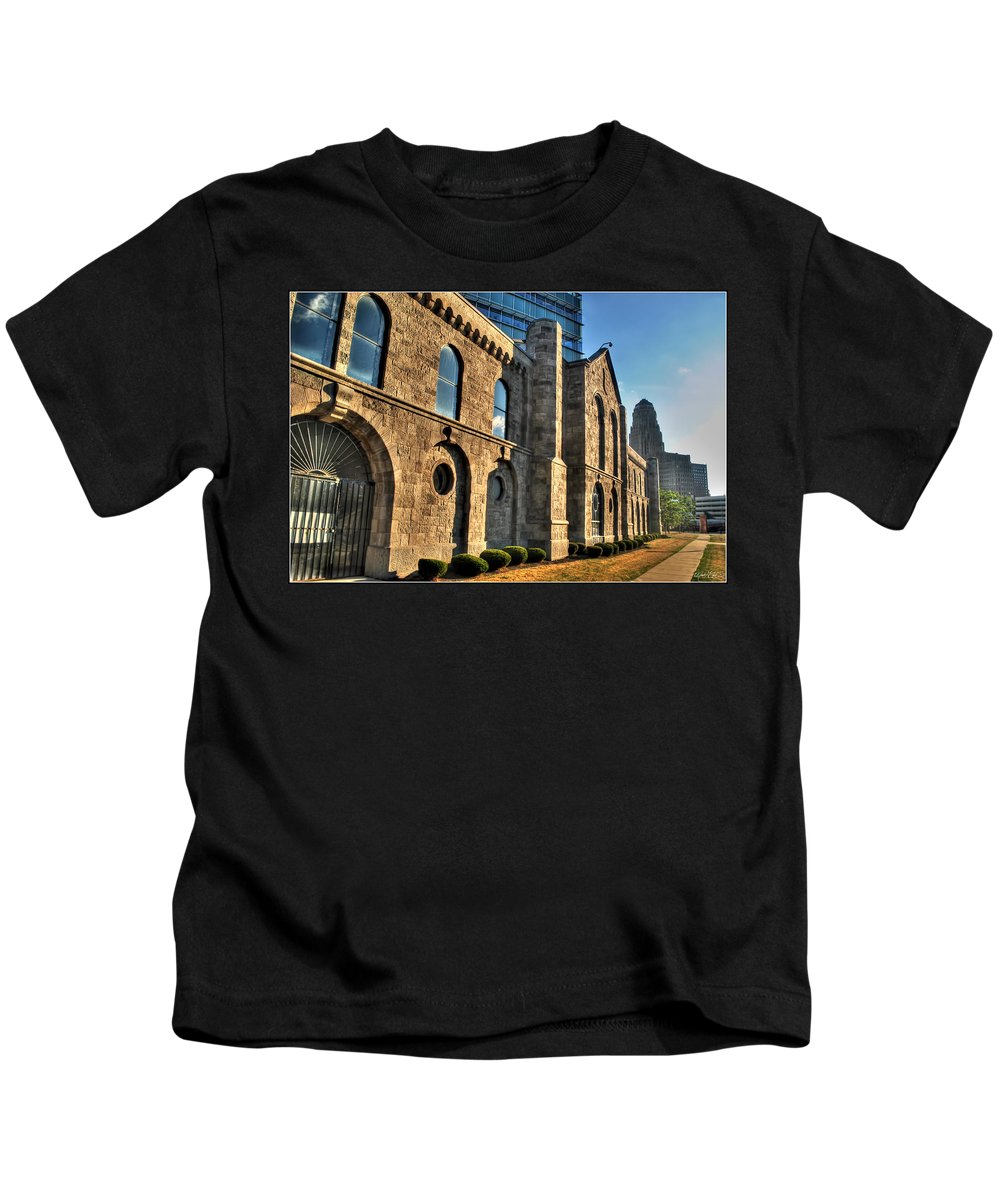 Kids T-Shirt featuring the photograph 011 Wakening Architectural Dynamics by Michael Frank Jr