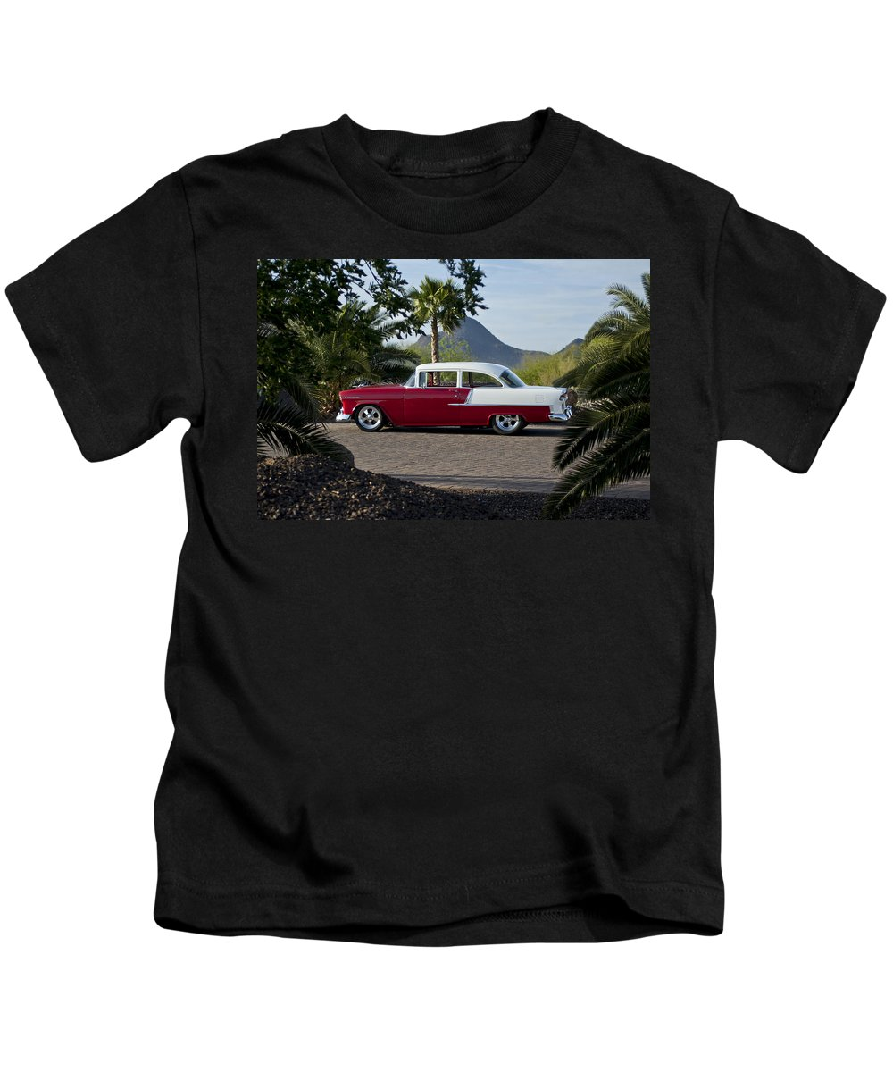 1955 Chevrolet 210 Kids T-Shirt featuring the photograph 1955 Chevrolet 210 by Jill Reger
