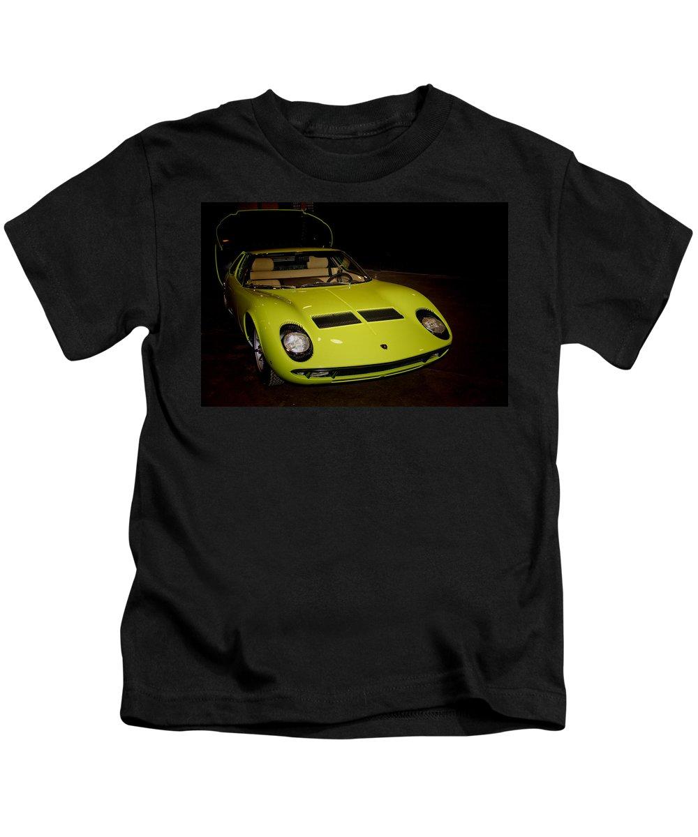 1968 Kids T-Shirt featuring the photograph 1968 Lamborghini Miura S by Douglas Barnard