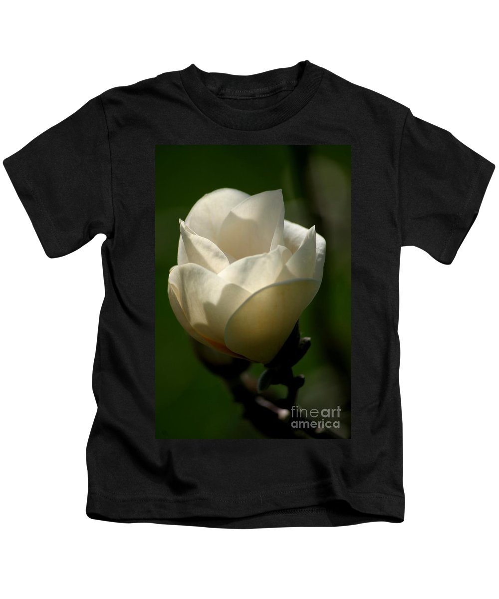 Floral Kids T-Shirt featuring the photograph A New Day by Living Color Photography Lorraine Lynch