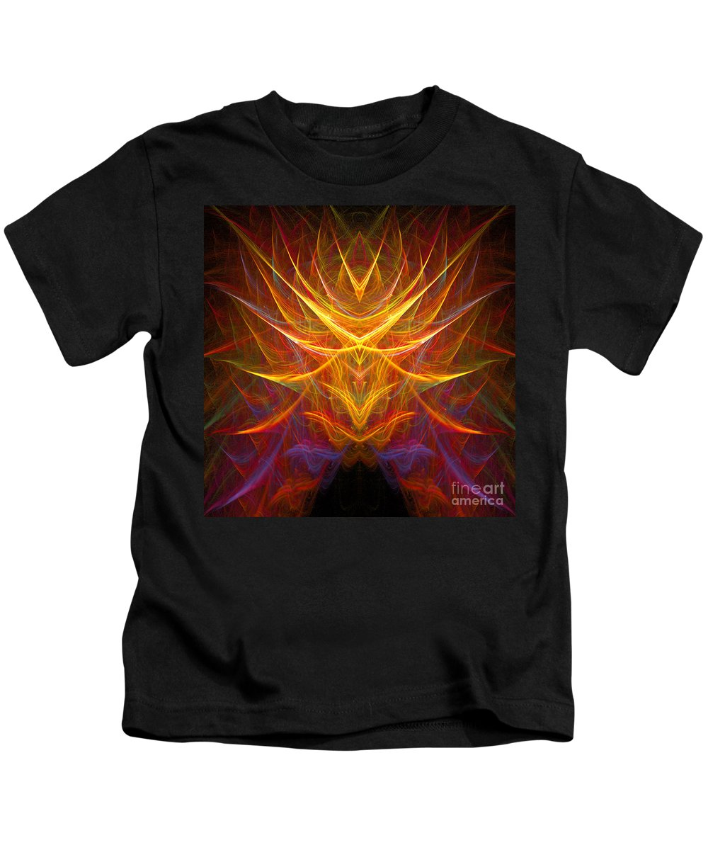 Fractal Digital Art Kids T-Shirt featuring the photograph Abstract 109 by Mike Nellums
