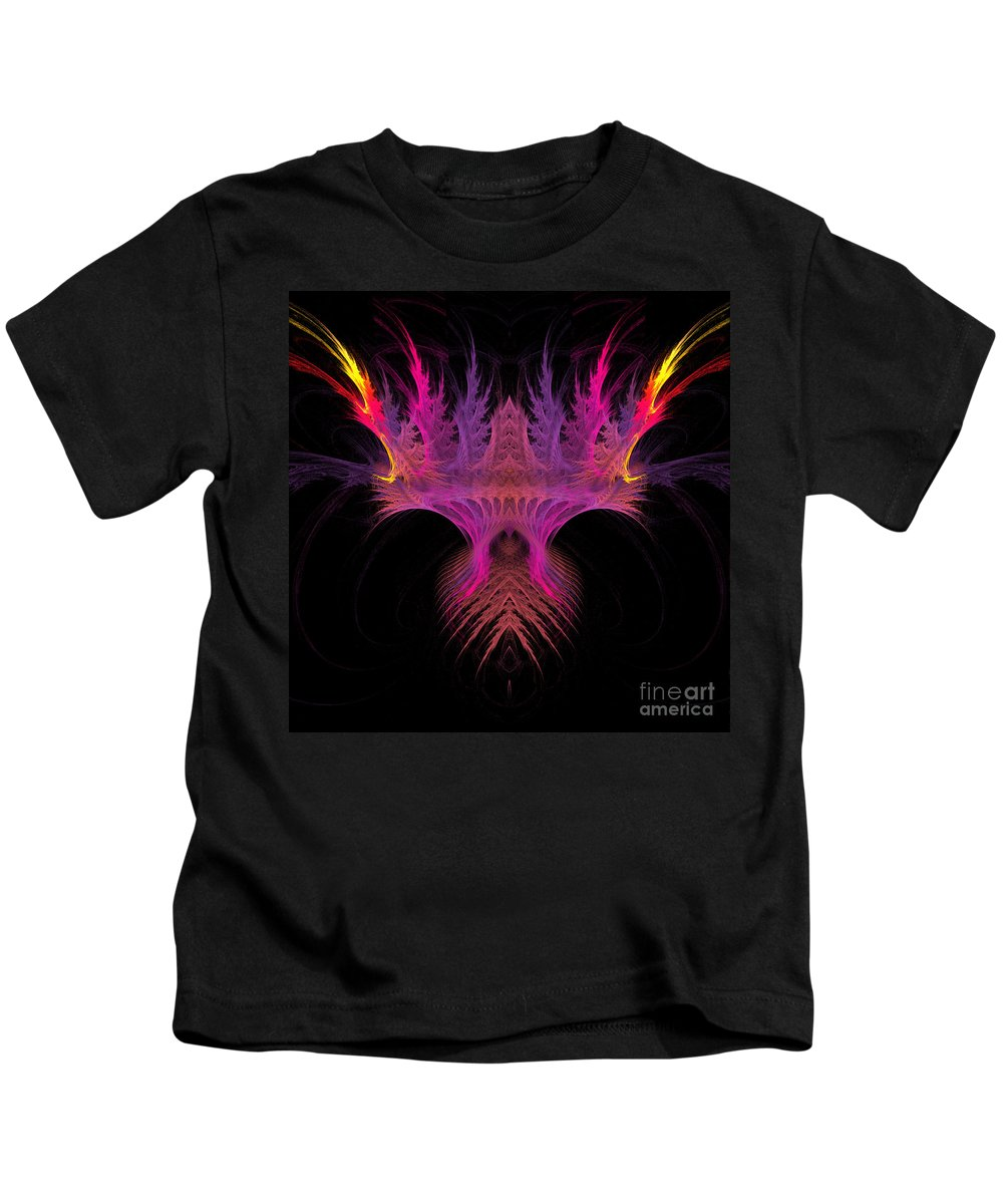 Fractal Digital Art Kids T-Shirt featuring the photograph Abstract 149 by Mike Nellums