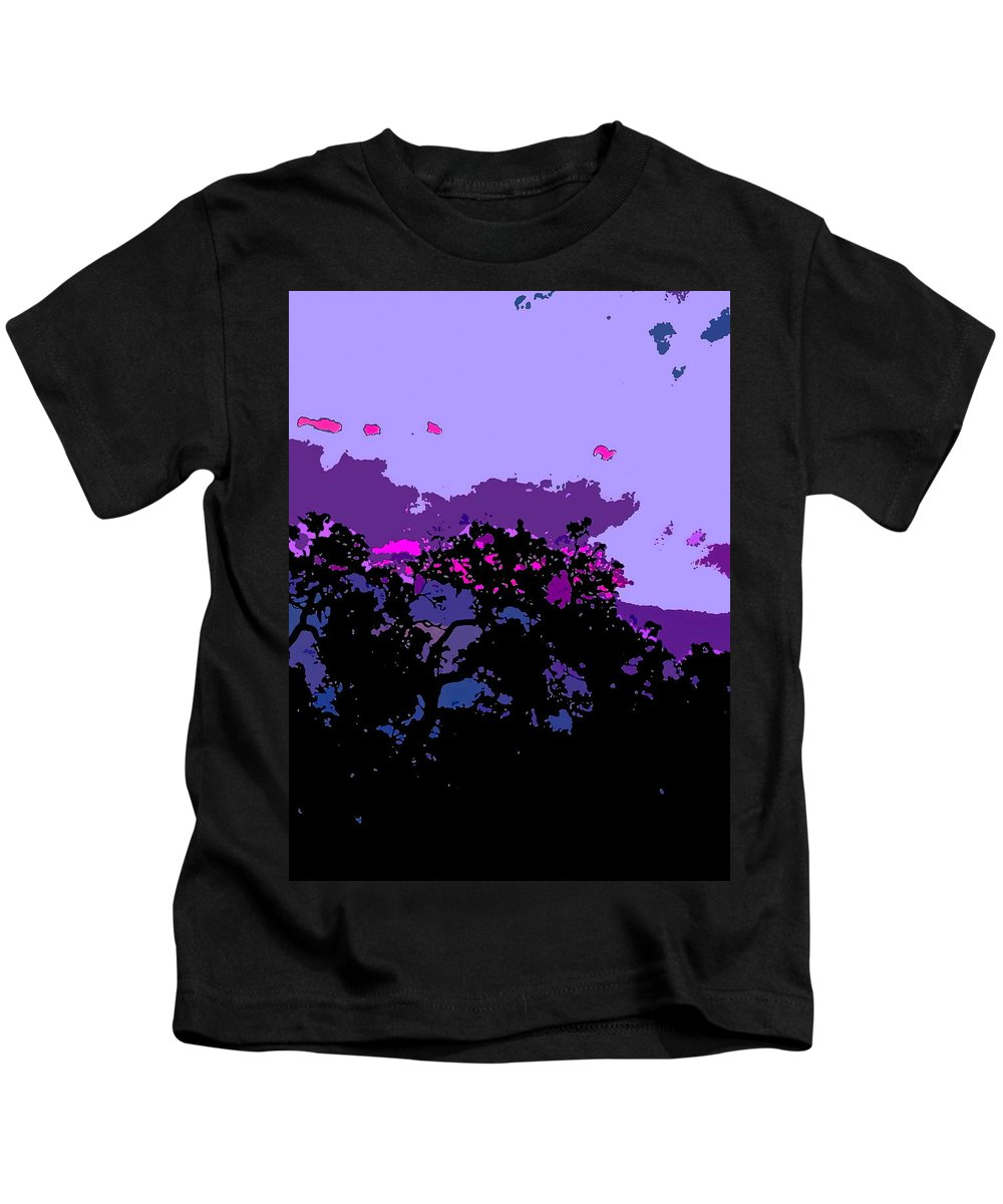 Sunset Kids T-Shirt featuring the photograph Abstract 231 by Pamela Cooper