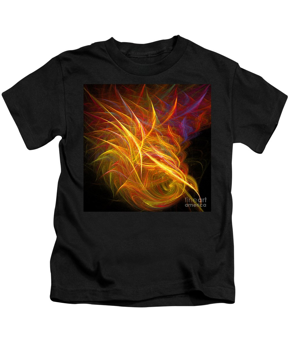Fractal Digital Art Kids T-Shirt featuring the photograph Abstract Ninety-nine by Mike Nellums