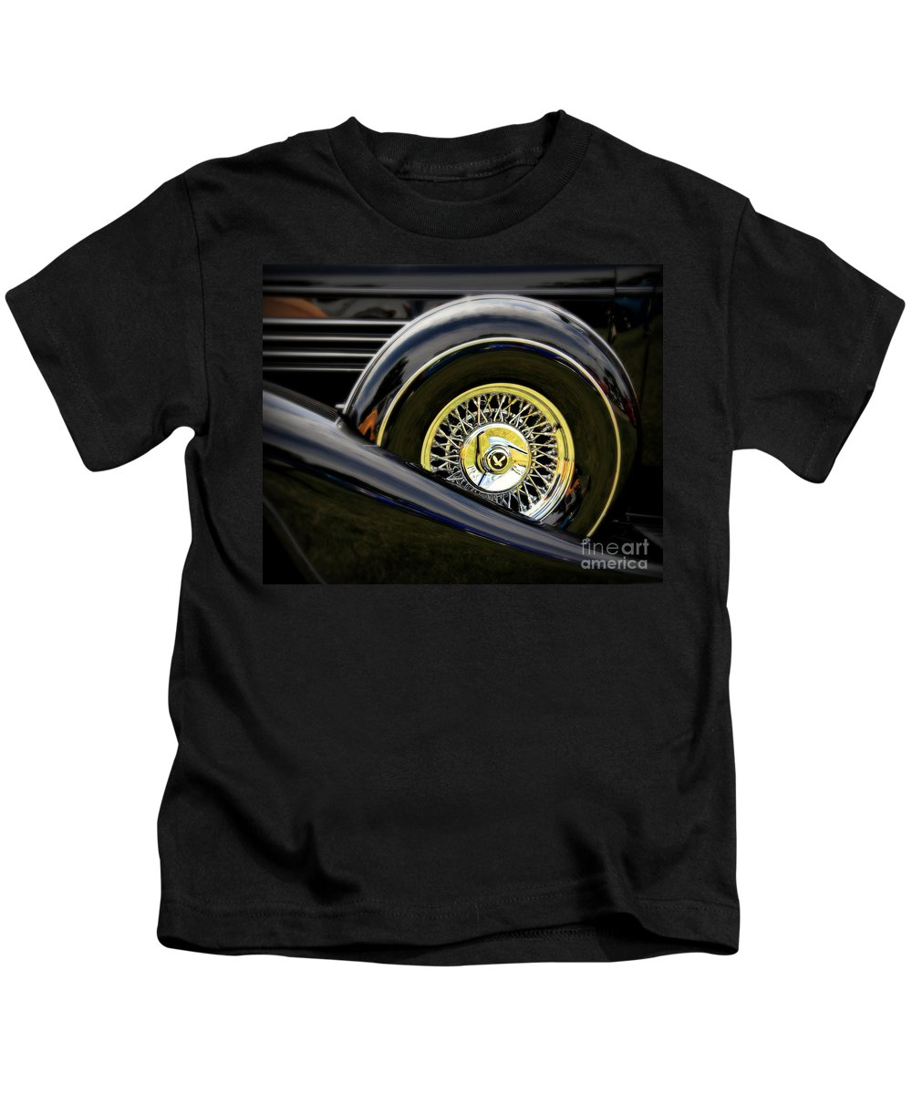 Car Kids T-Shirt featuring the photograph Black Classic by Perry Webster
