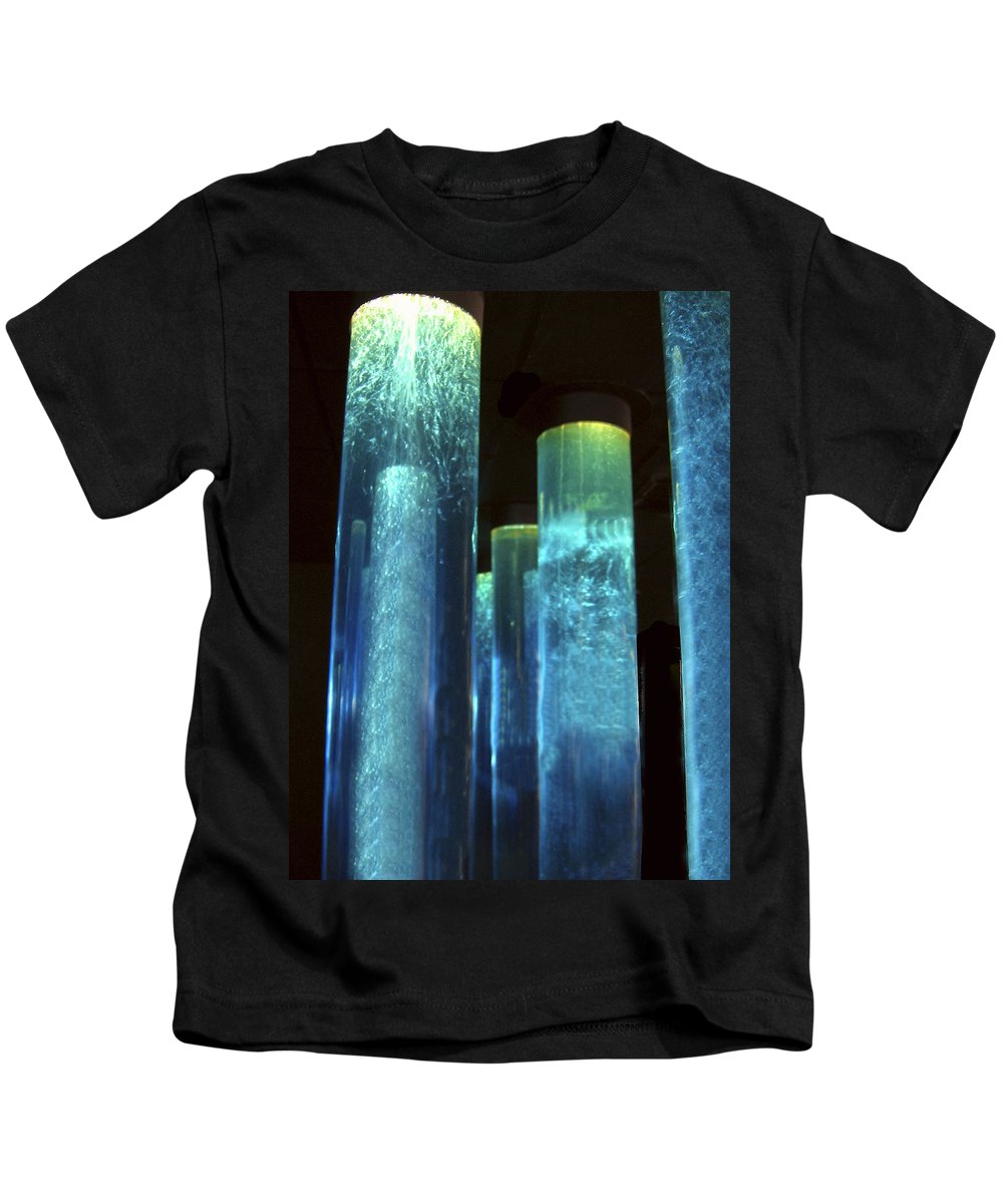 Blue Tubes Kids T-Shirt featuring the photograph Blue Tubes by Denise Keegan Frawley