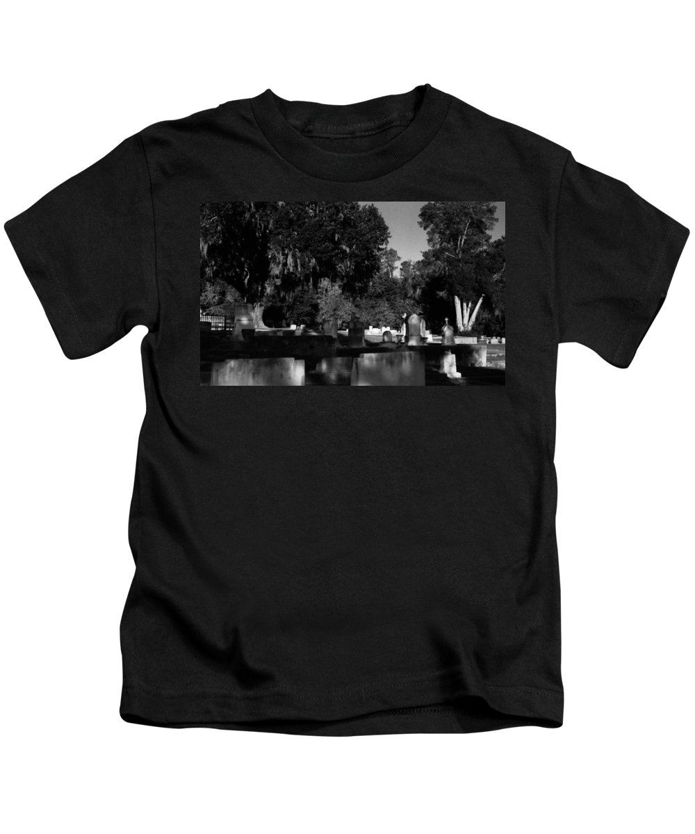 Louisiana Kids T-Shirt featuring the photograph Cemetery Natchez Mississippi by Doug Duffey