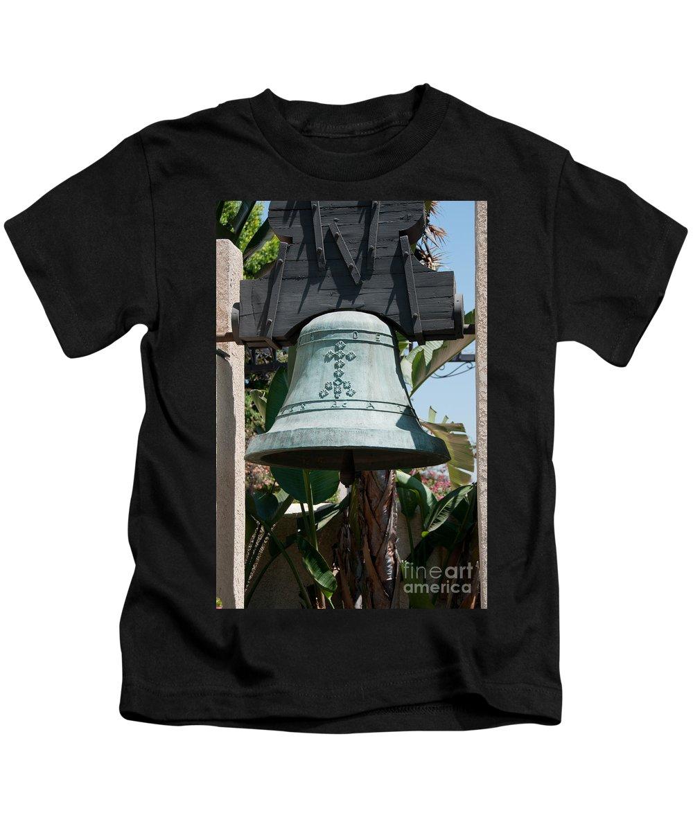 Bell Kids T-Shirt featuring the digital art El Pueblo De Los Angeles by Carol Ailles