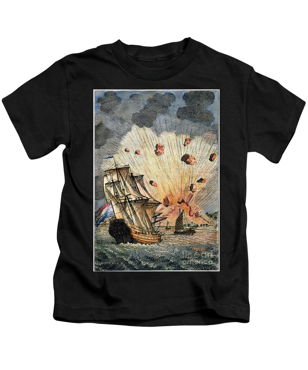 1673 Kids T-Shirt featuring the photograph Eruption Of Gamkonora by Granger