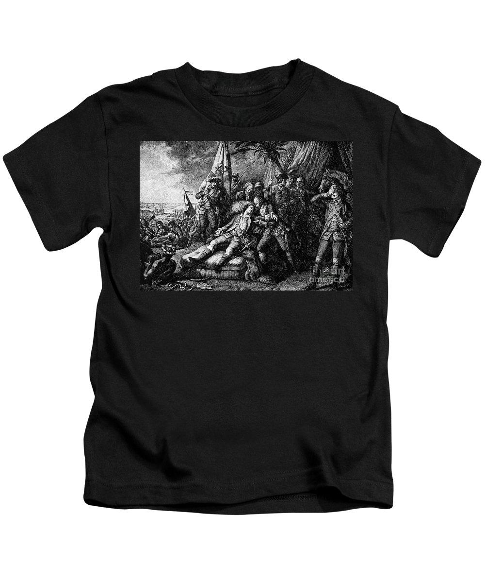 1759 Kids T-Shirt featuring the photograph Marquis De Montcalm by Granger