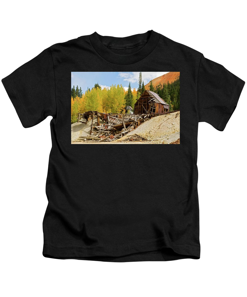 Colorado Kids T-Shirt featuring the photograph Mining Ruins by Steve Stuller