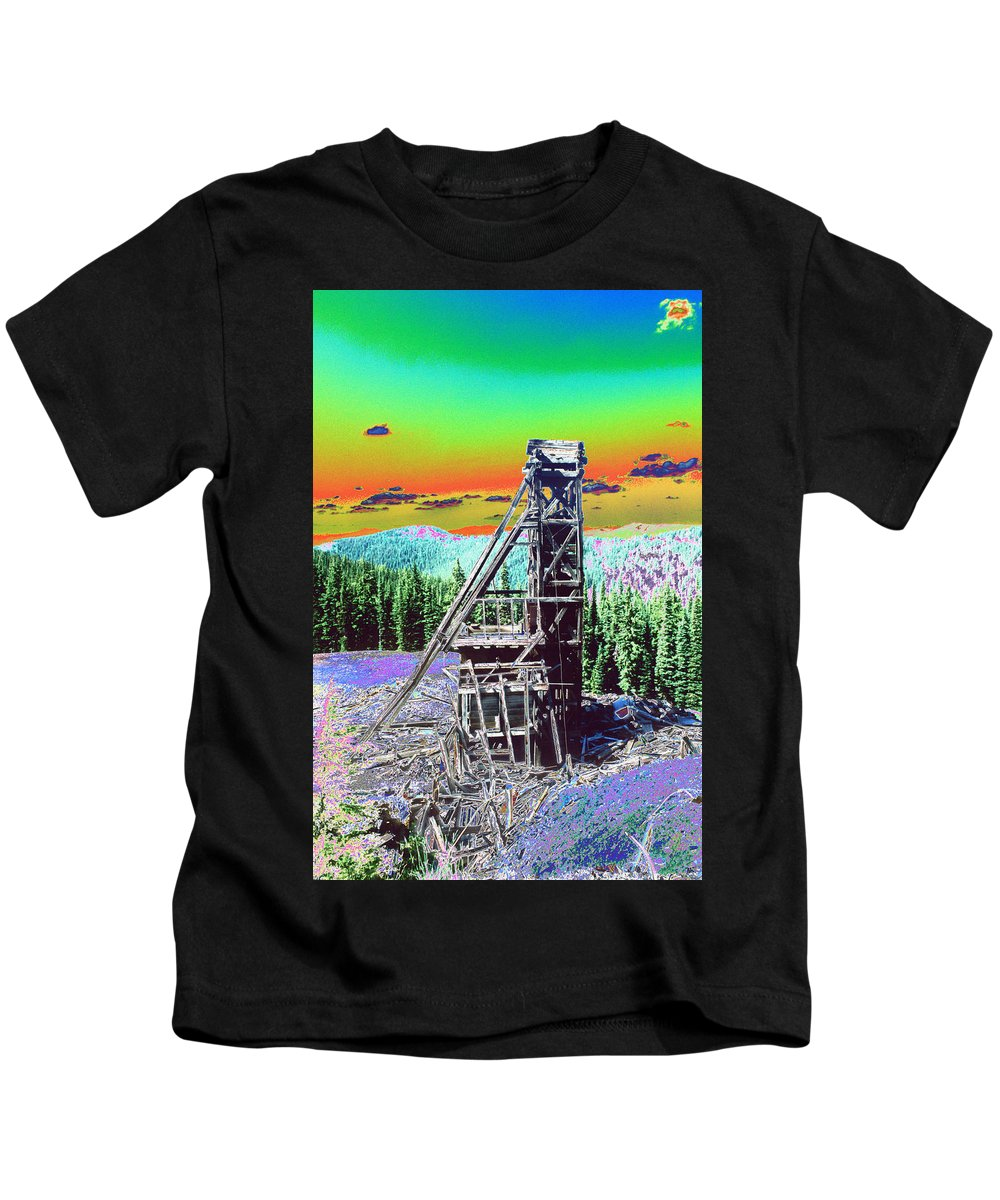 Mine Kids T-Shirt featuring the photograph Old Mining Structure by One Rude Dawg Orcutt
