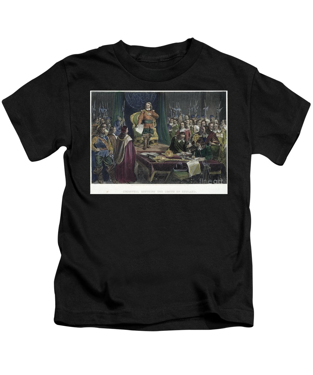 Assembly Kids T-Shirt featuring the photograph Oliver Cromwell by Granger