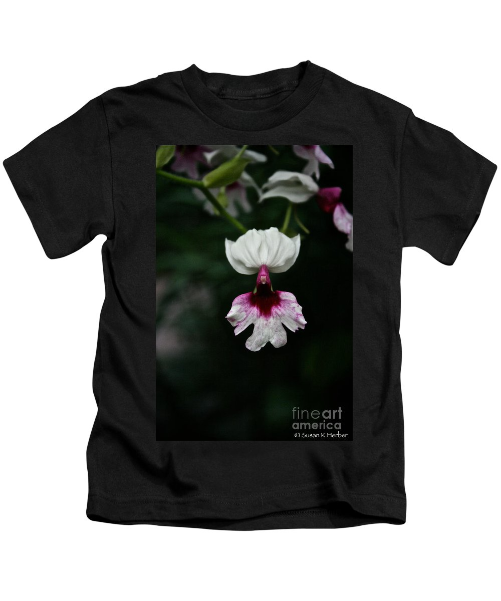 Tropical Plant Kids T-Shirt featuring the photograph Orchid by Susan Herber