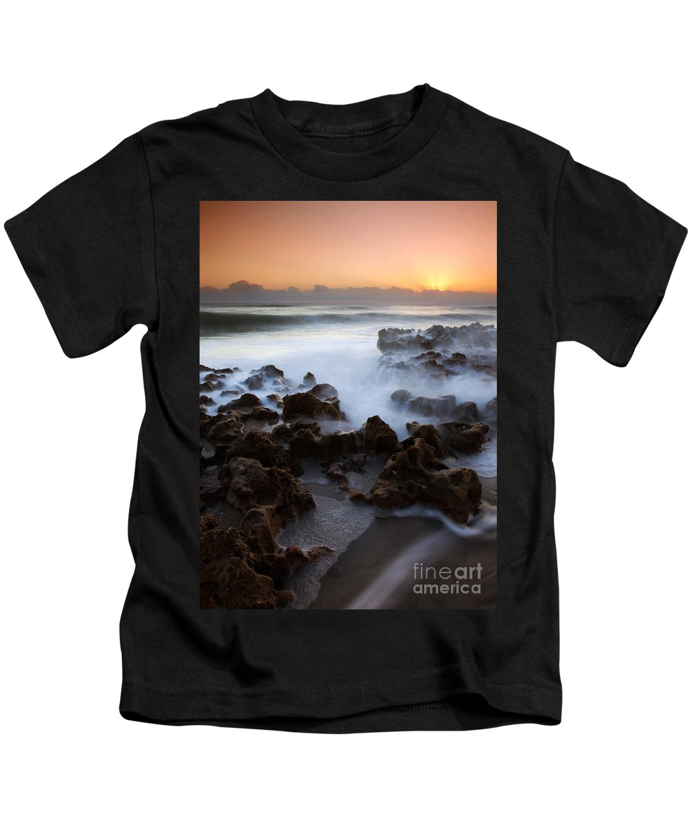 Coral Cove Kids T-Shirt featuring the photograph Overwhelmed By The Sea by Mike Dawson