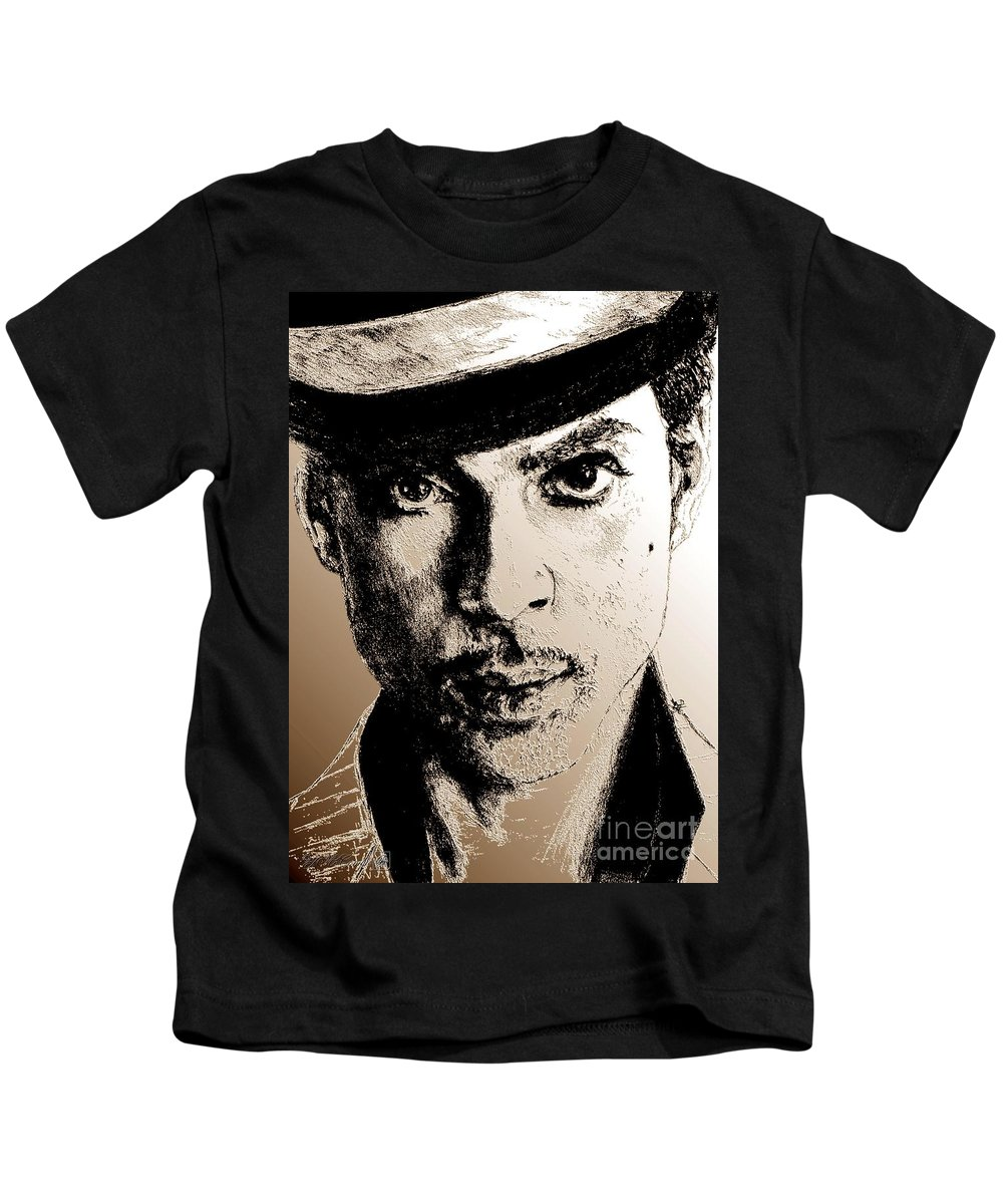 Prince Kids T-Shirt featuring the digital art Prince Nelson In 2006 by J McCombie