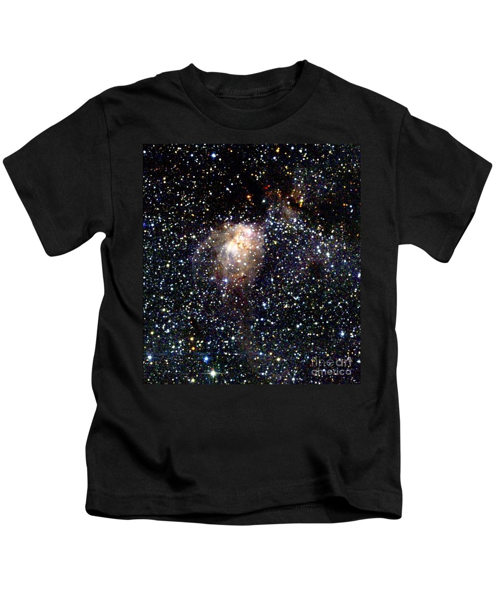 2mass Imagery Kids T-Shirt featuring the photograph Star Forming Region by 2MASS project / NASA
