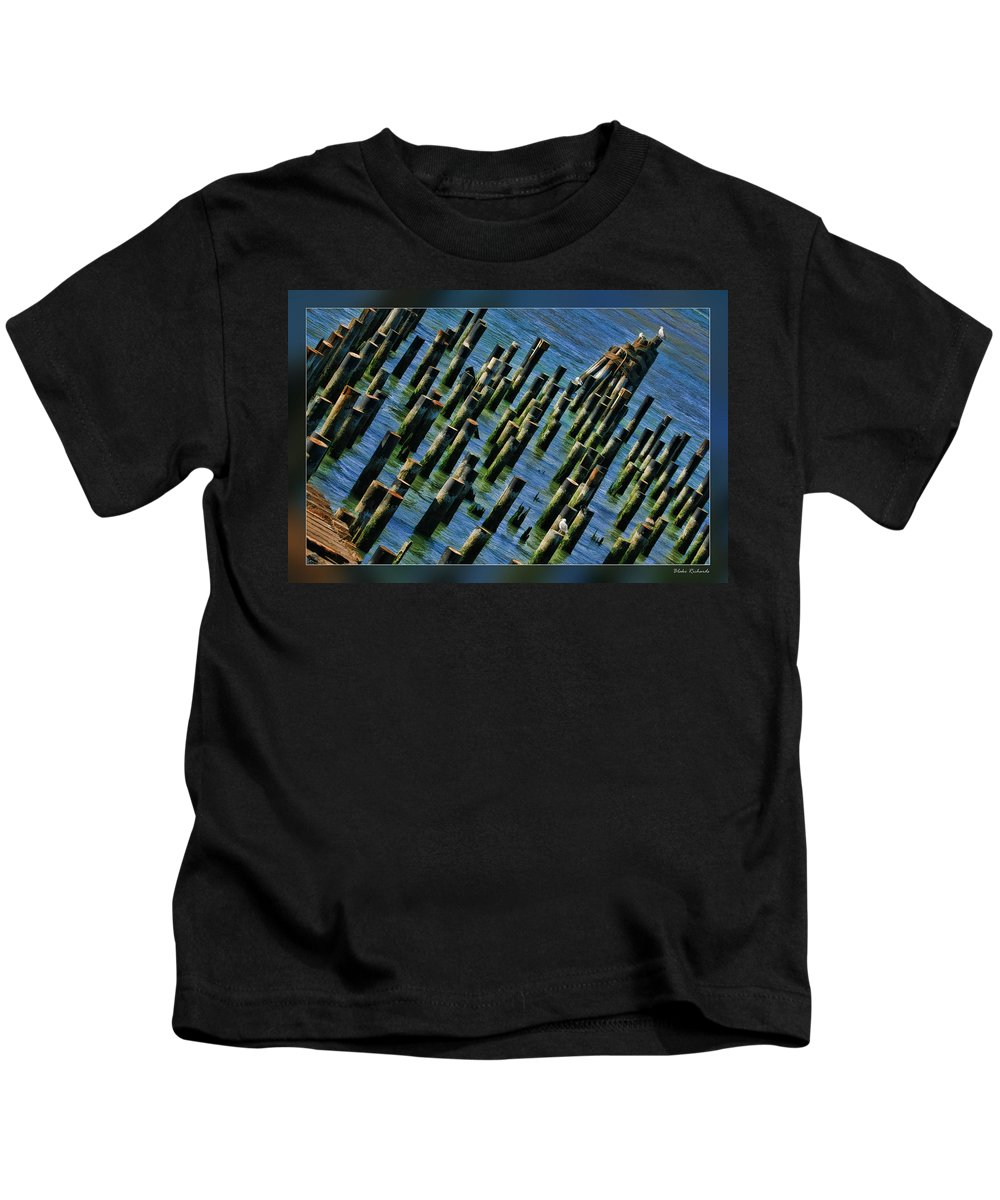 Art Photography Kids T-Shirt featuring the photograph Stumps by Blake Richards