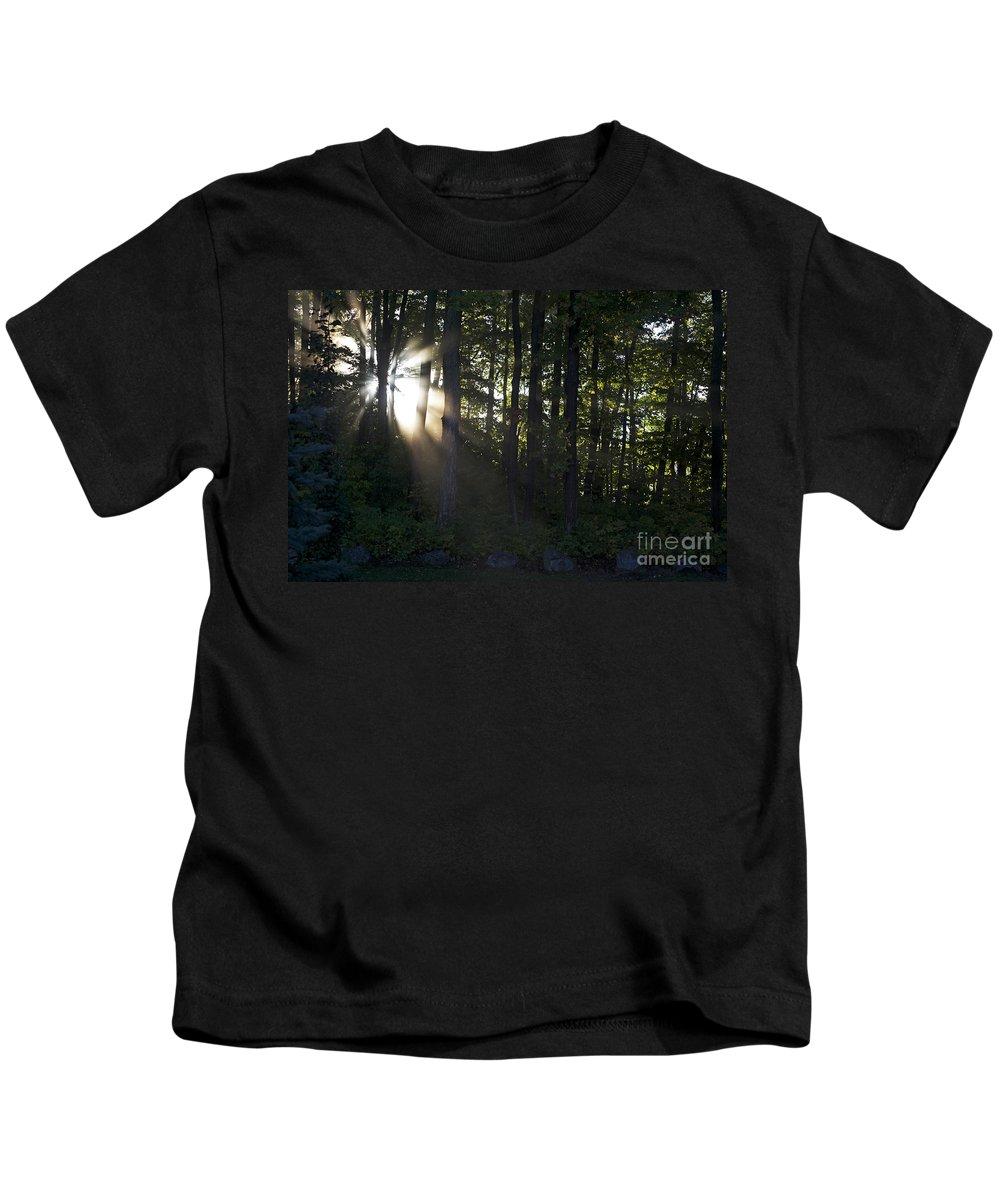 Morning Kids T-Shirt featuring the photograph Sunrise by Elaine Mikkelstrup