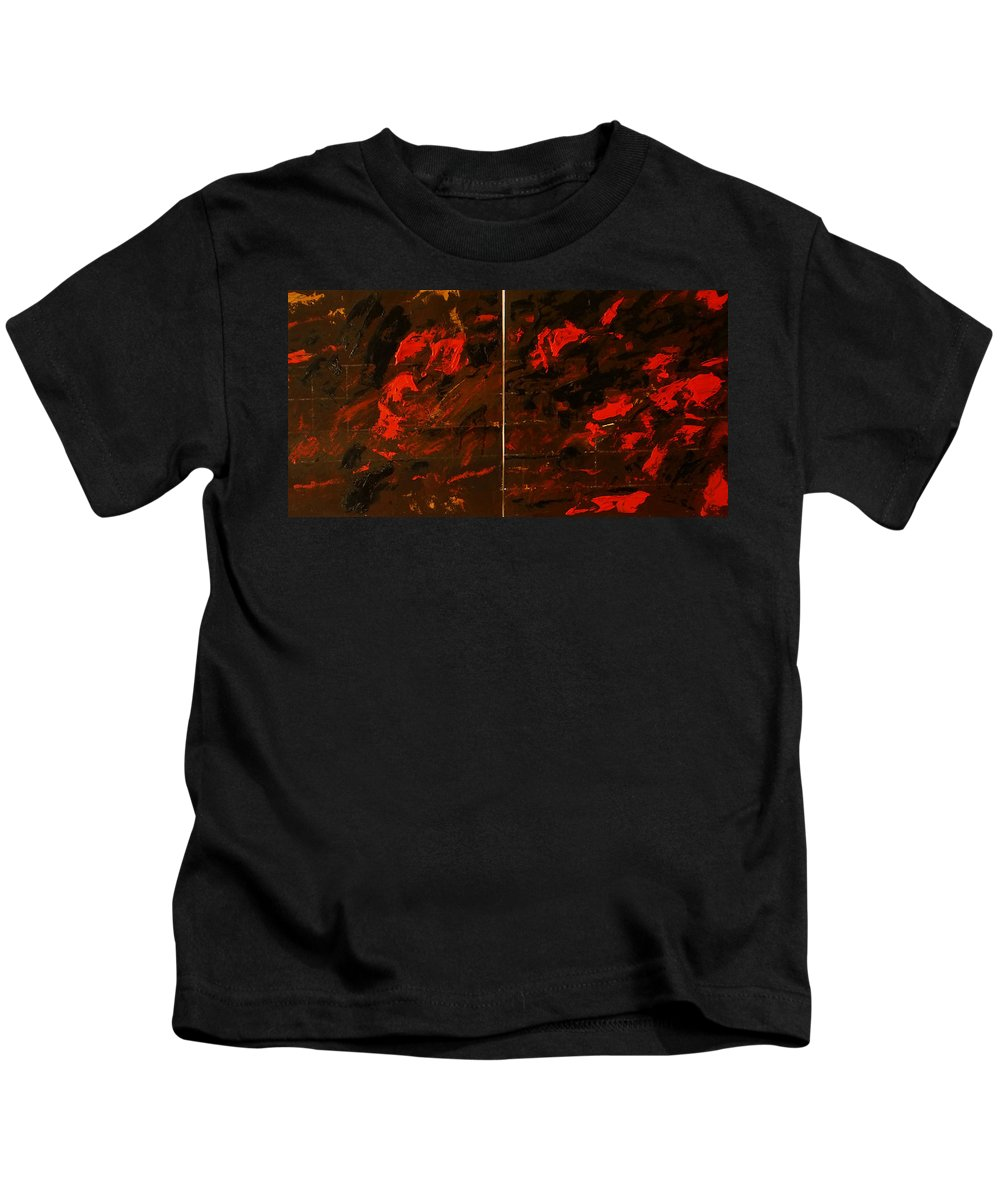 Kids T-Shirt featuring the painting Symphony No. 8 Movement 13 Vladimir Vlahovic- Images Inspired By The Music Of Gustav Mahler by Vladimir Vlahovic
