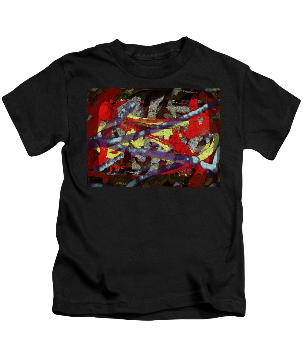Abstract Kids T-Shirt featuring the digital art The Writing On The Wall 1 by Tim Allen