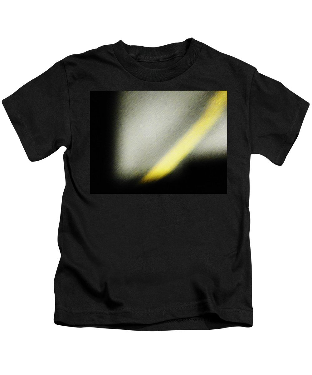 Abstract Kids T-Shirt featuring the photograph The Yellow Line by Lenore Senior