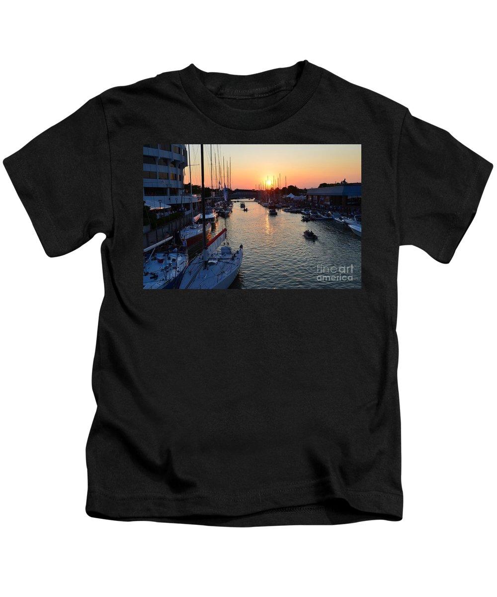 Mackinac Kids T-Shirt featuring the photograph Mackinac Race by Randy J Heath