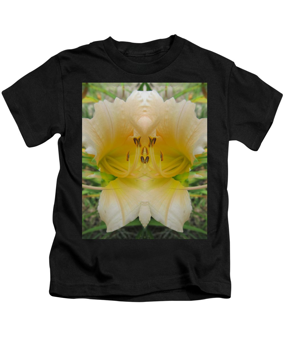 Color Blend Kids T-Shirt featuring the digital art Lily Fantasy by Michele Caporaso