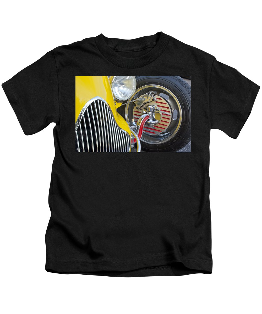 1929 Ford Model A Roadster Kids T-Shirt featuring the photograph 1929 Ford Model A Roadster Wheel by Jill Reger