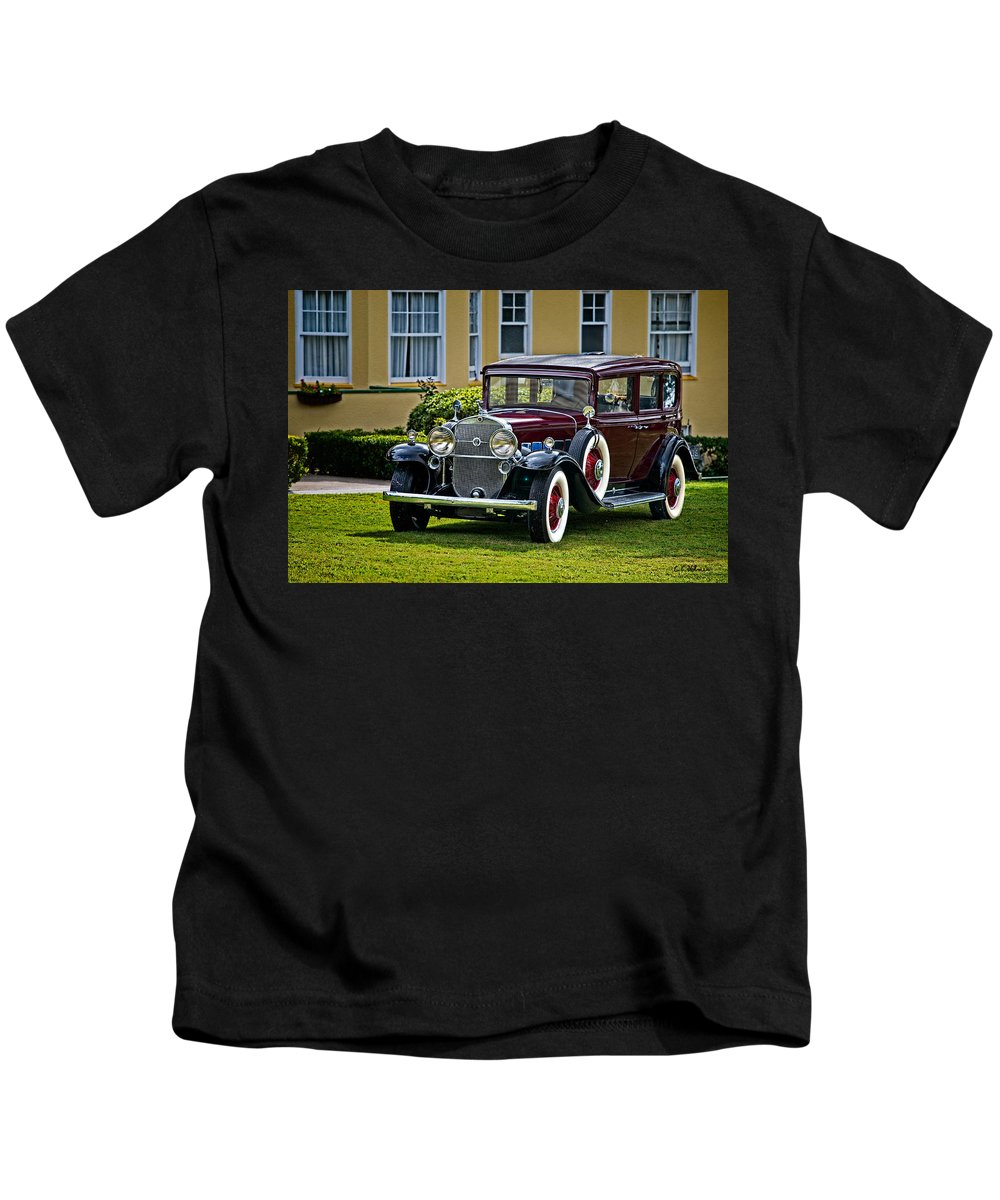 Cadillac Kids T-Shirt featuring the photograph 1931 Cadillac V12 by Christopher Holmes