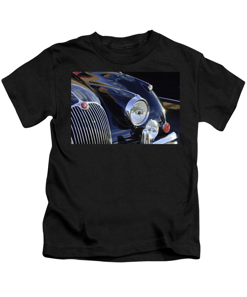 1959 Jaguar S Roadster Kids T-Shirt featuring the photograph 1959 Jaguar S Roadster Headlights by Jill Reger