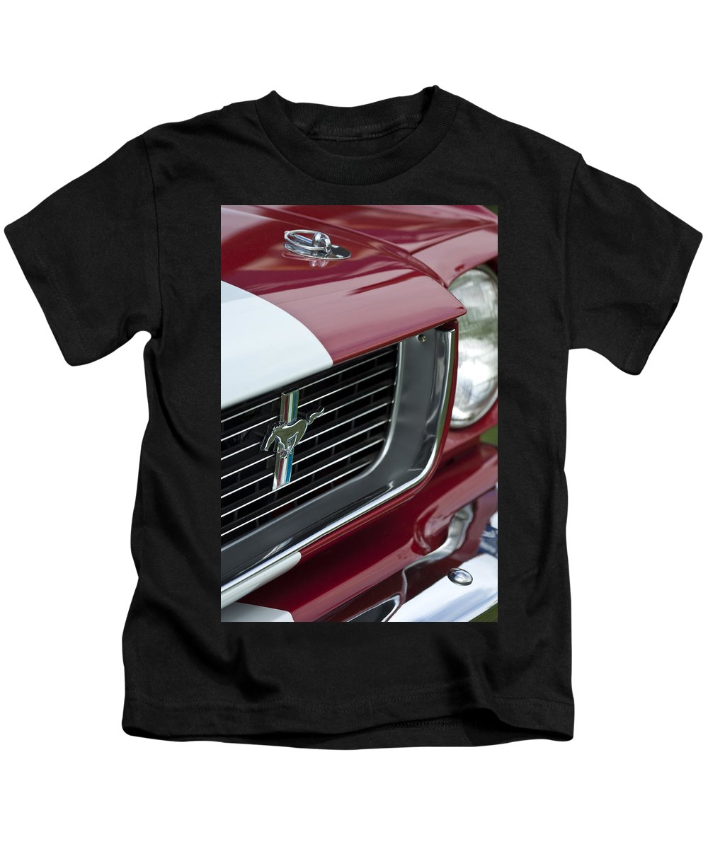 1966 Shelby Gt 350 Kids T-Shirt featuring the photograph 1966 Shelby Gt 350 Grille Emblem by Jill Reger