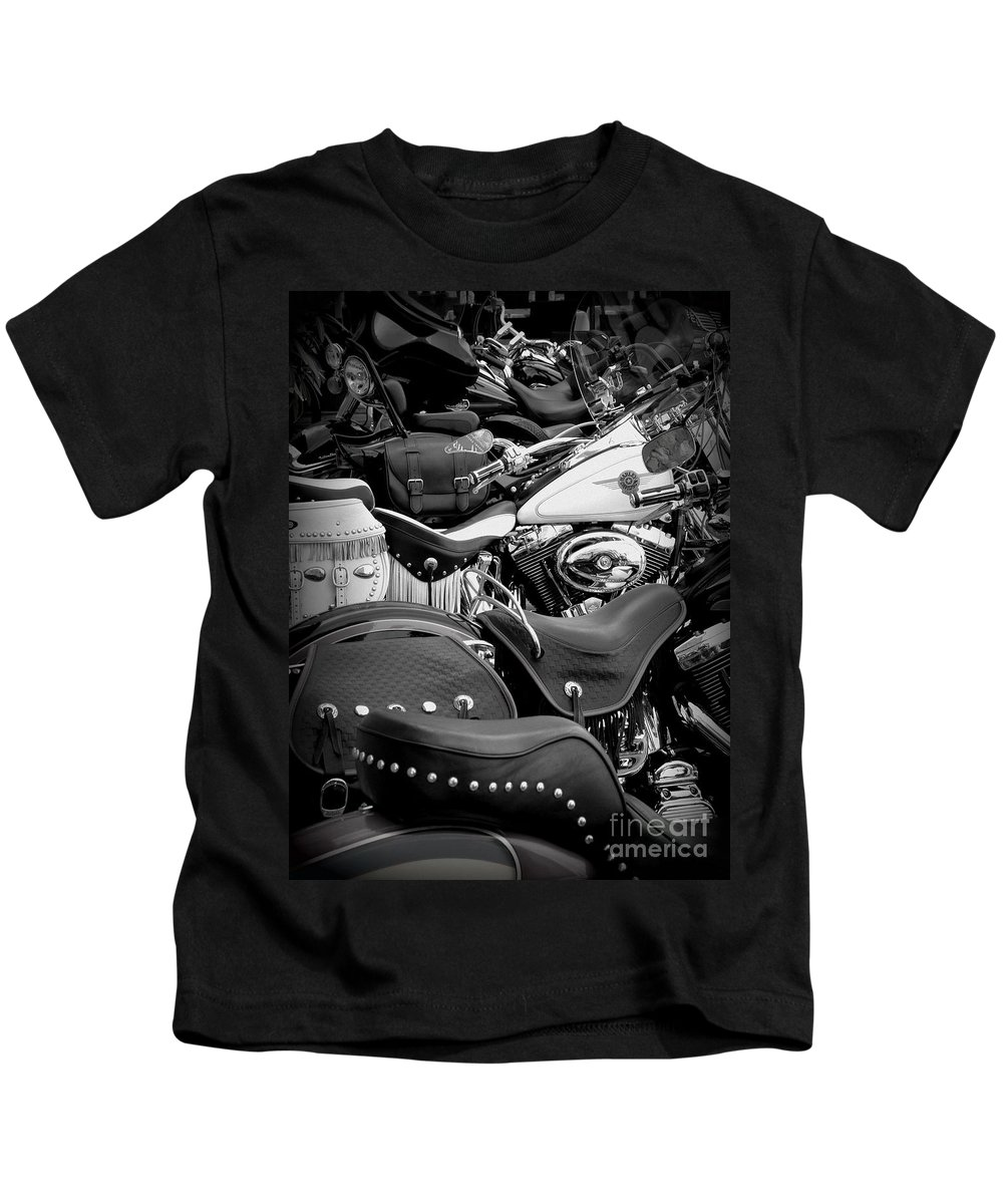 Harley Davidson Kids T-Shirt featuring the photograph 2 - Harley Davidson Series by Lainie Wrightson